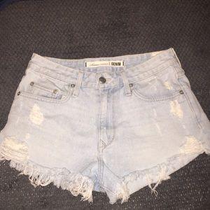 Lovers + FRIENDS jean shorts